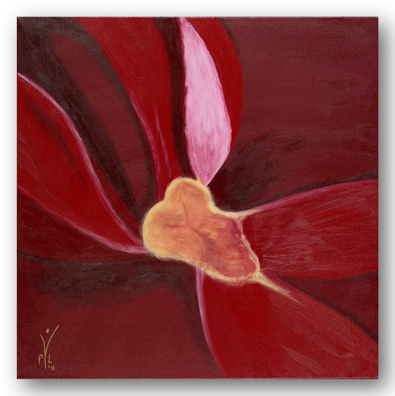 Sensual Blossom - Acrylic / Canvas 60 x 60 cm, 23.6 x 23.6 inch