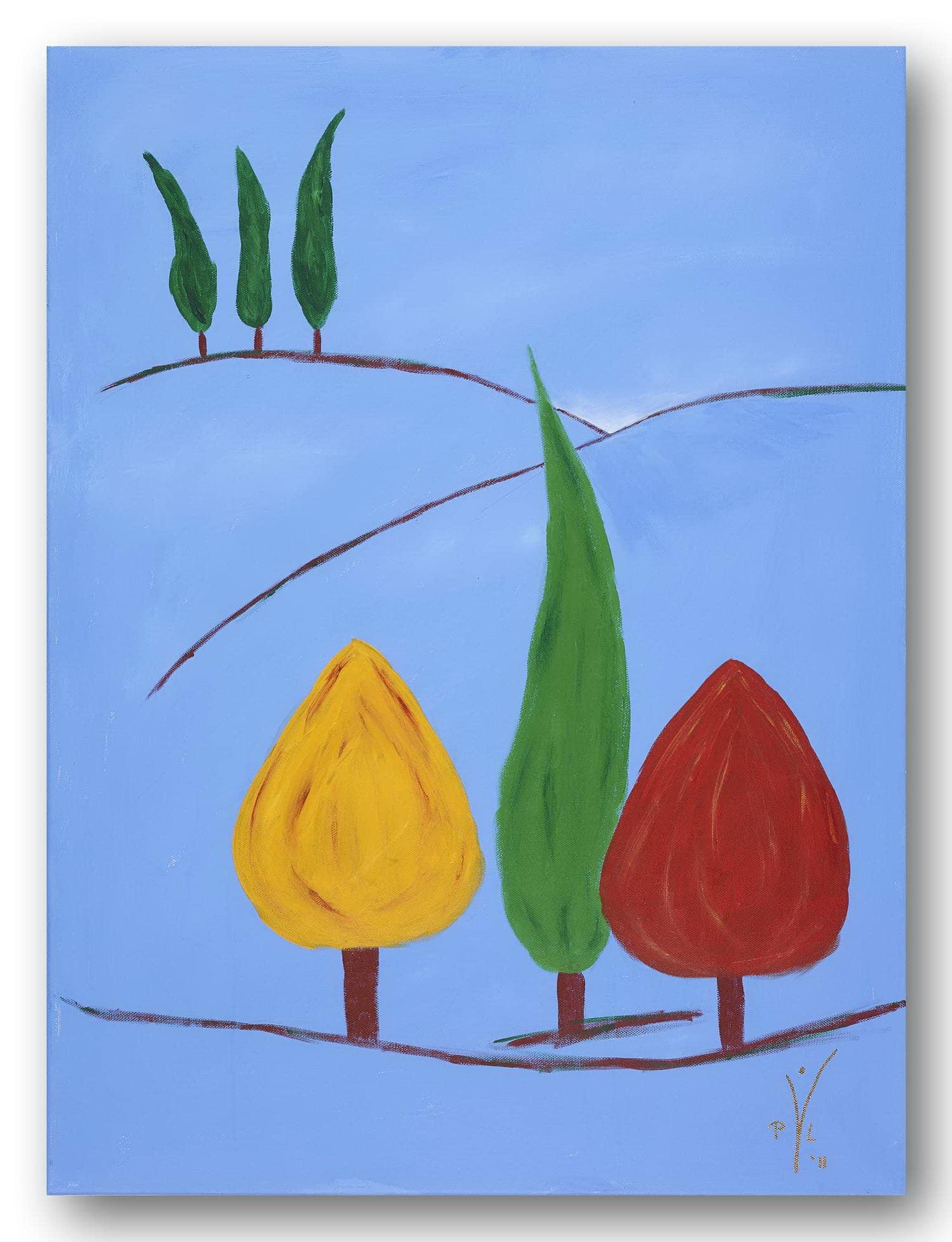 Toskana macht blau - Acrylic / Canvas 60 x 80 cm, 23.6 x 31.5 inch