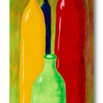 Fruity Bottles - Acrylic / Canvas 30 x 80 cm, 11.8 x 31.5 inch