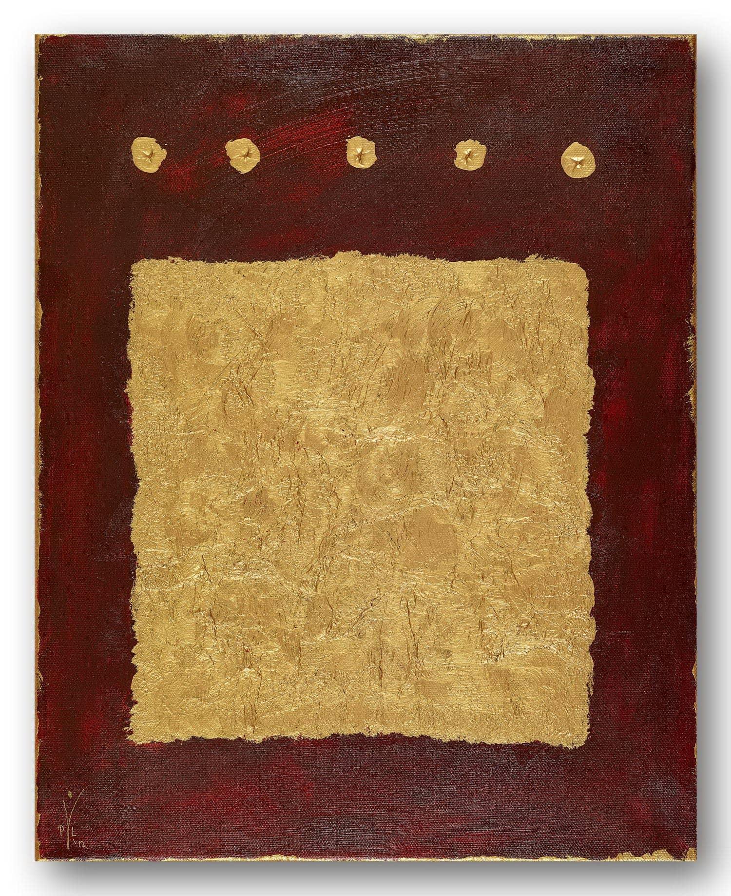 Kroenung in Afrika - Acrylic / Canvas 40 x 50 cm, 15.8 x 19.7 inch