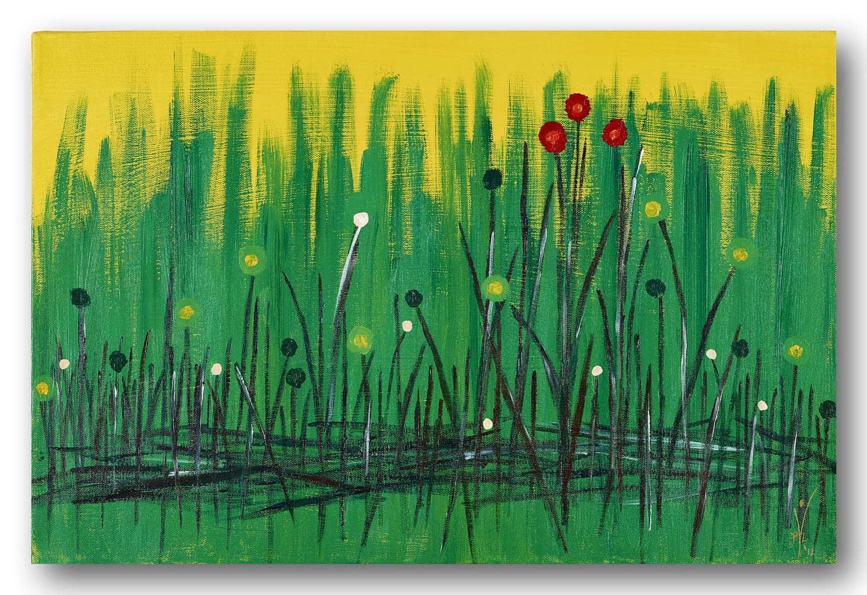 Frühlingsbrise - Acrylic / Canvas 60 x 40 x 3,5 cm, 23.6 x 15.8 inch