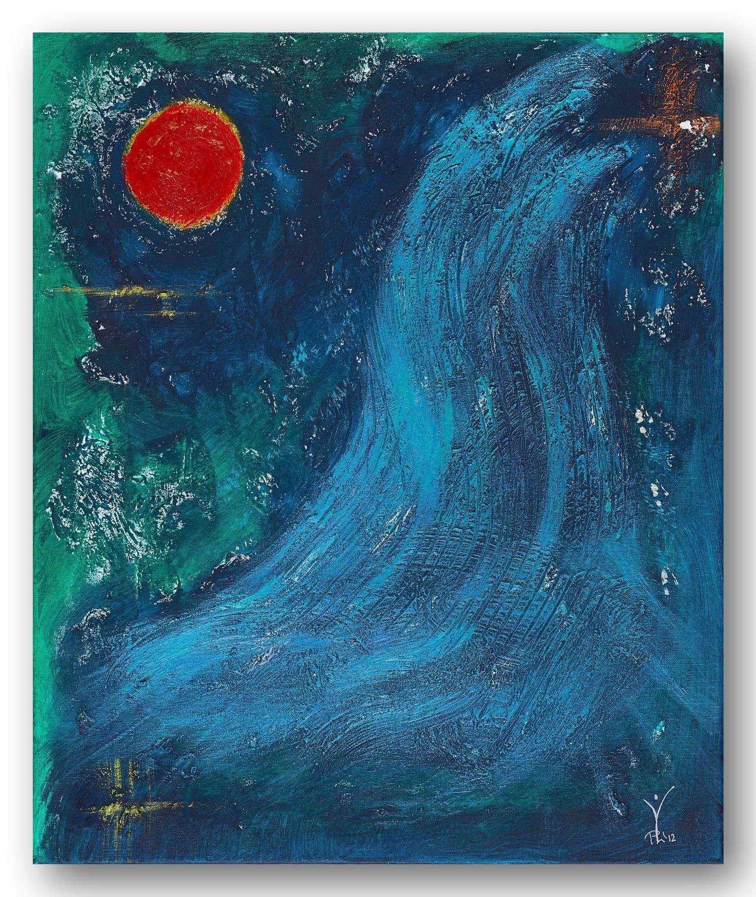 Fließender Wohlstand - Acrylic / Canvas 50 x 60 cm, 19.7 x 23.6 inch