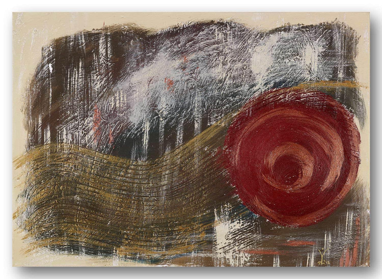 Goldfluss - Acrylic / Canvas 70 x 50 cm, 27.6 x 19.7 inch