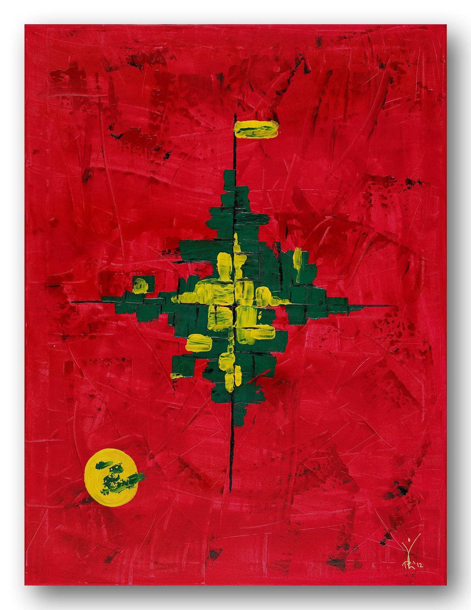 033_Polarnacht - Acrylic / Canvas 60 x 80 cm, 23.6 x 31.5 inch