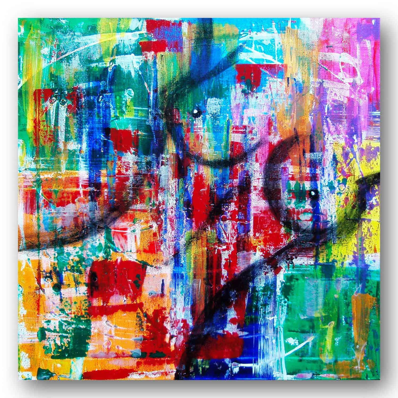 Happy Nude - Acrylic / Canvas 50 x 50 cm, 19.7 x 19.7 inch