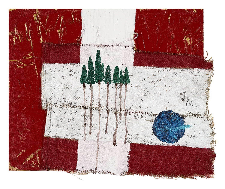 Gemeinsamkeiten - Mix of Material / Canvas 60 x 50 cm, 23.6 x 19.7 inch