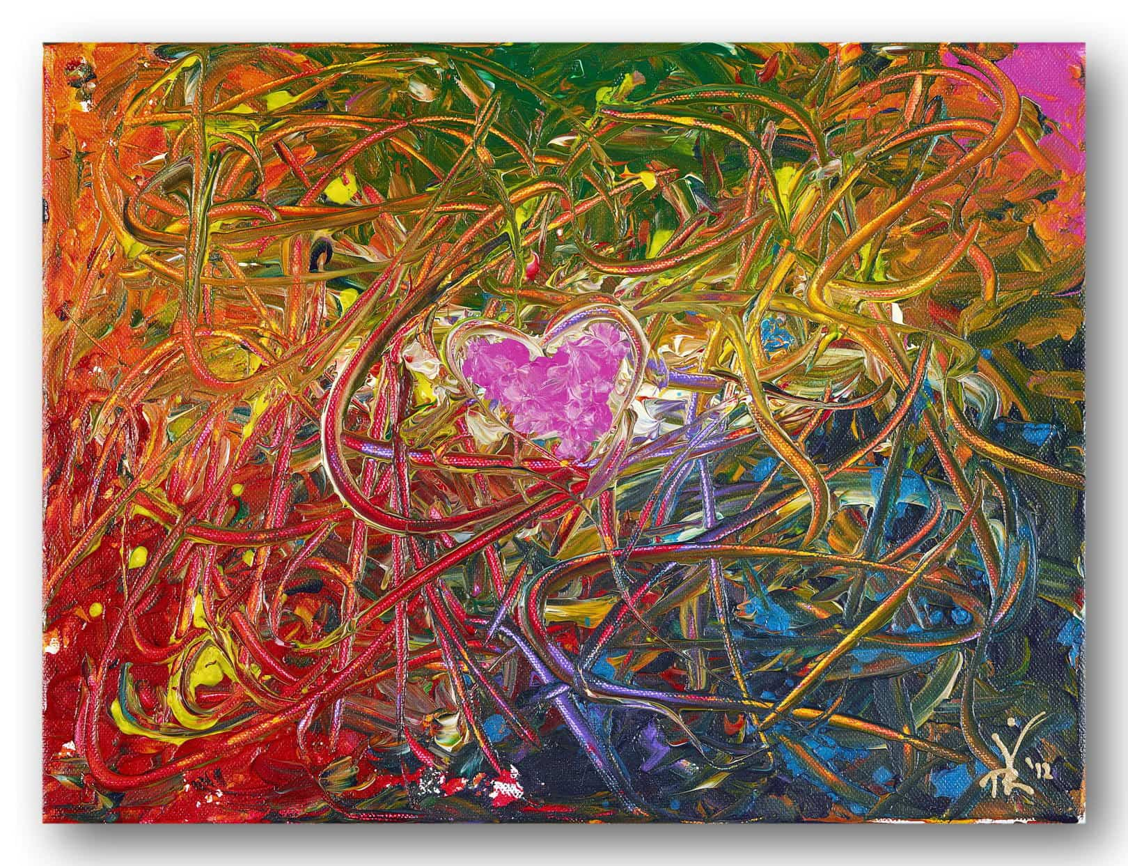 Wild Heart - Acrylic / Canvas 40 x 30 cm, 15.6 x 11.8 inch