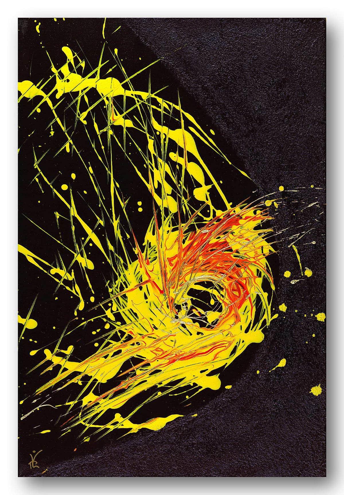 Euphoria - Acrylic / Canvas 40 x 60 cm, 15.8 x 23.6 inch