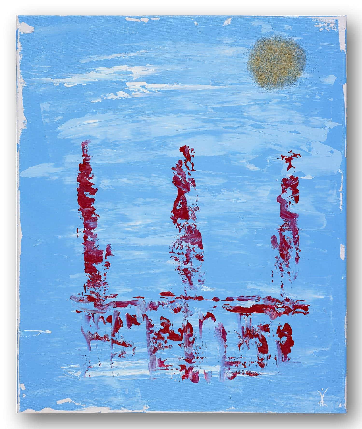 Hamburger Flair - Acrylic / Canvas 50 x 60 cm, 19.7 x 23.6 inch