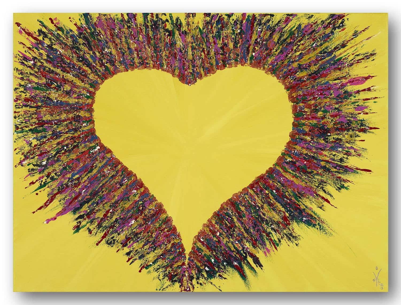 Powerful Heart - Acrylic / Canvas 80 x 60 cm, 31.5 x 23.6 inch