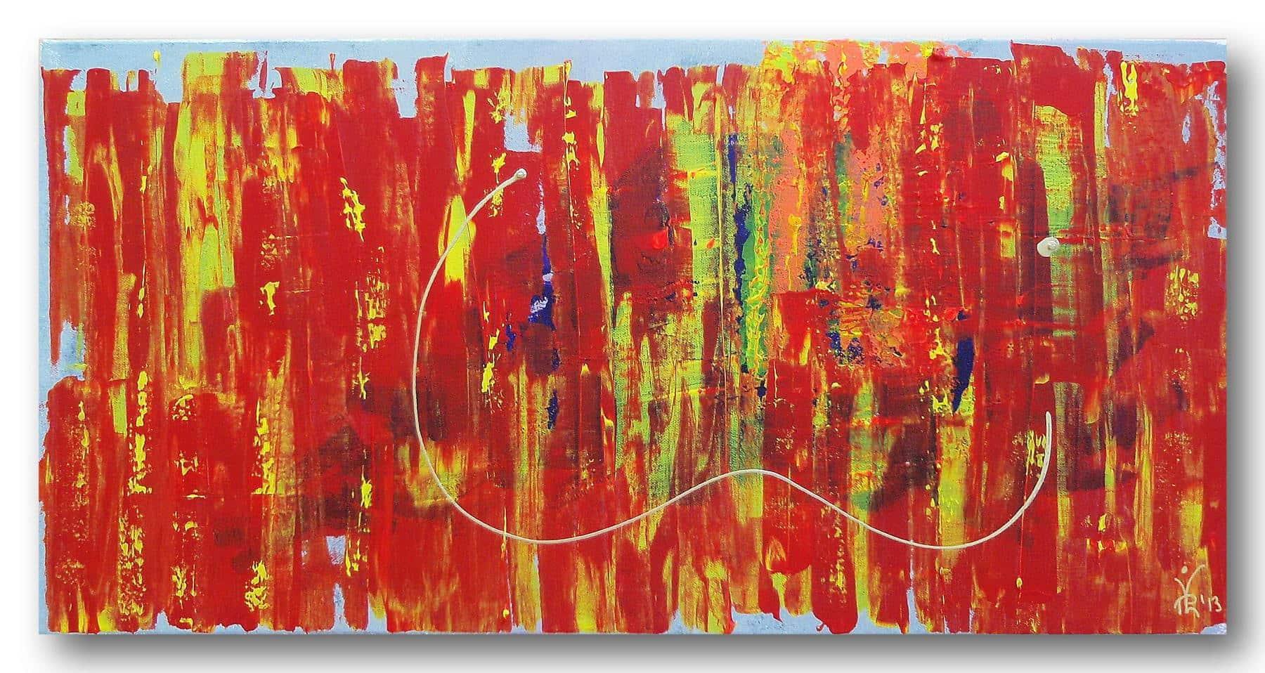 Hidden Hope - Acrylic / Canvas 80 x 40 cm, 31.5 x 15.8 inch