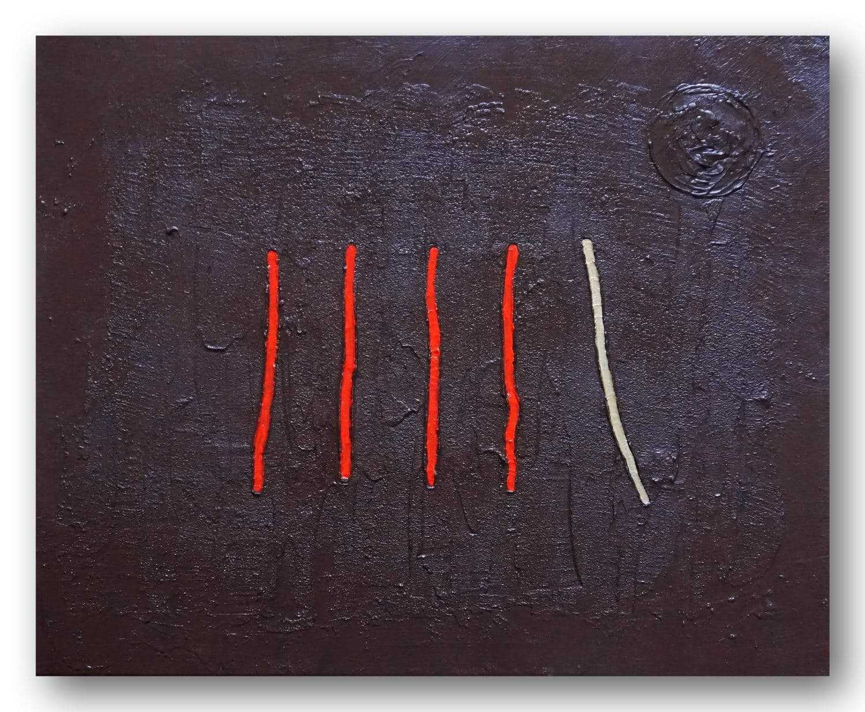 Different Way - Acrylic / Canvas 50 x 40 cm, 19.7 x 15.8 inch