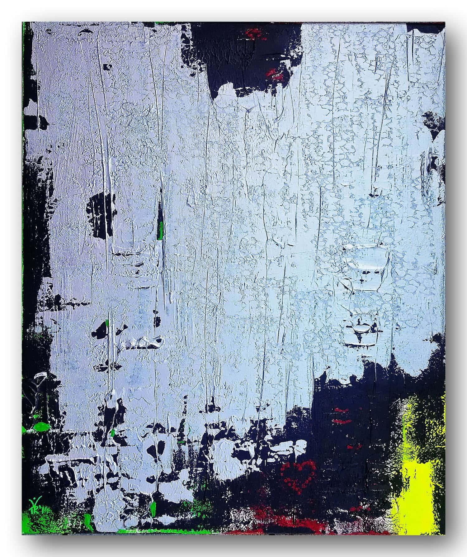 Phoenix aus der Asche - Acrylic / canvas 50 x 60 cm, 19.7 x 23.6 inch